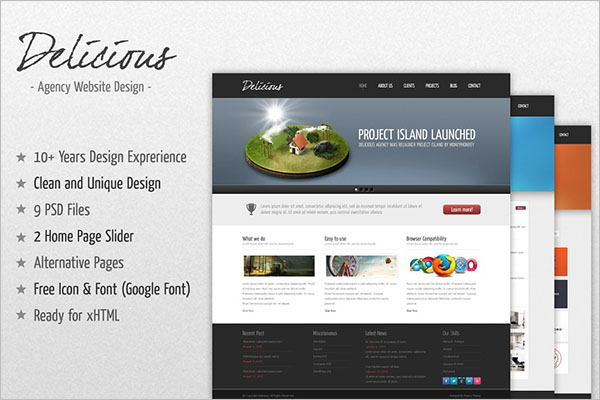 Delicious Agency Bootstrap Template
