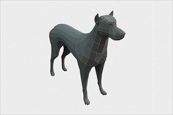 Dog 3D Maya Model
