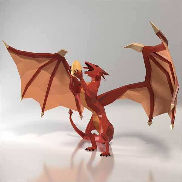 Dragon 3D Print Design