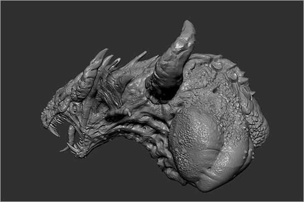 Dragon Head 3D Design