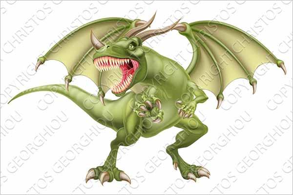 Dragon Illustration 3D Design
