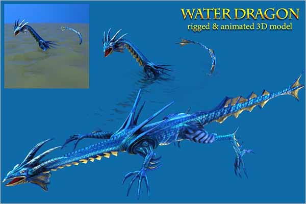 Dragon Skelton 3D Design