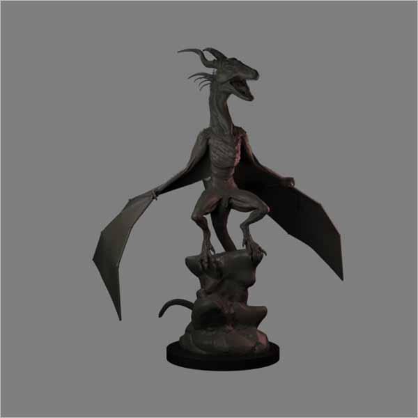 Dragon Statue Model Design