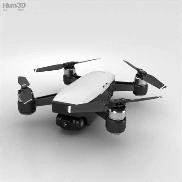 Drone Shape 3D Design