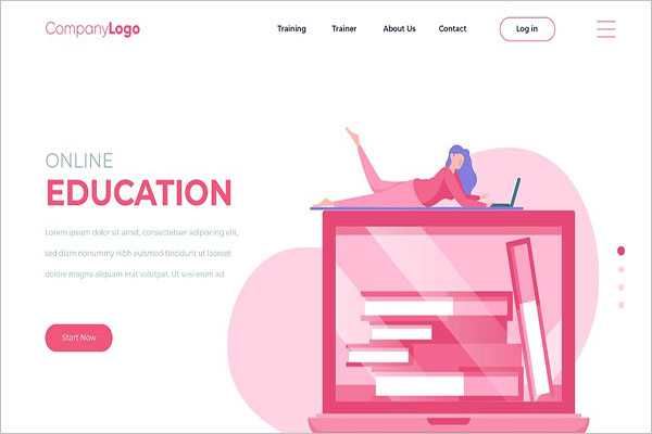 Education Landing Page Designs