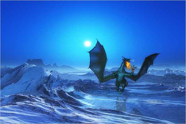 Fantasy Free Dragon Scene