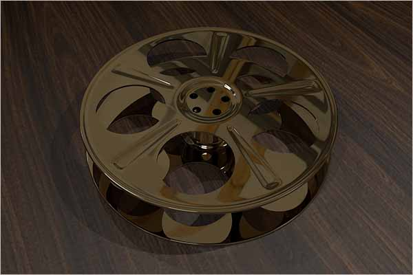 Film Reel 3D Object Design