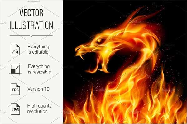 Fire Dragon 3D Model