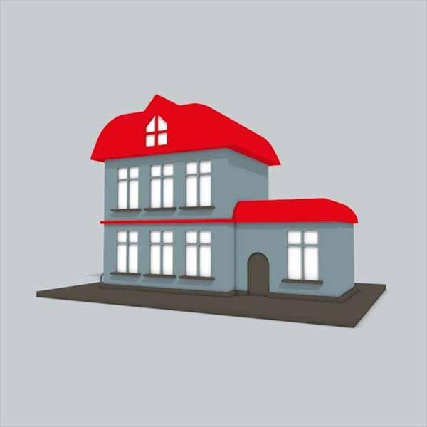 Flat Home 3D Design