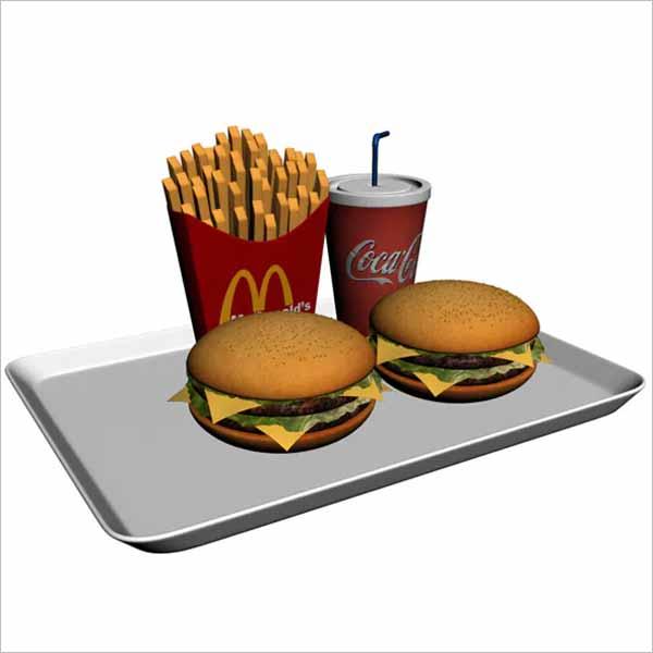 Food 3D Maya Model