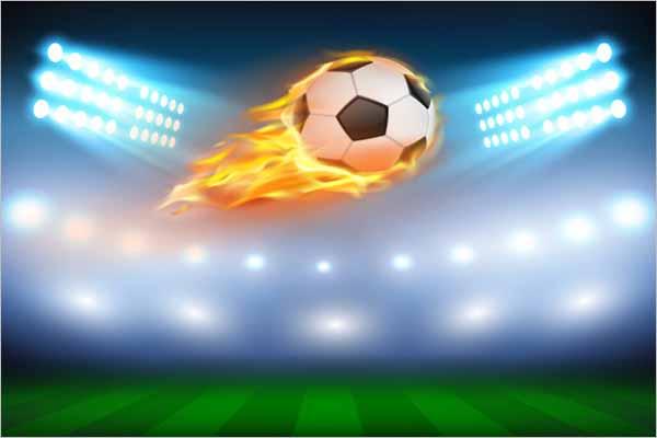 Football Illustration 3D Design