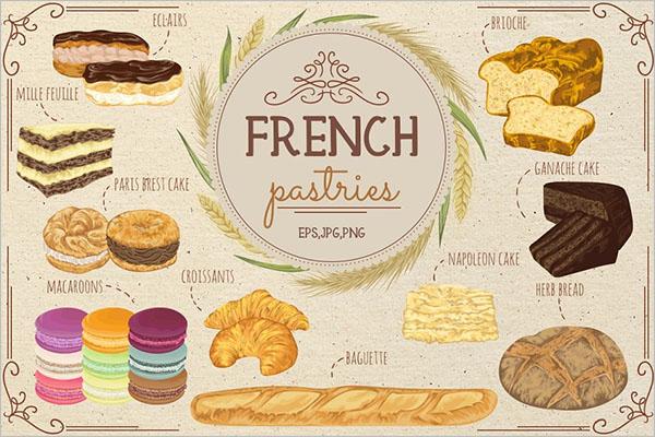 French Restaurant Menu Template