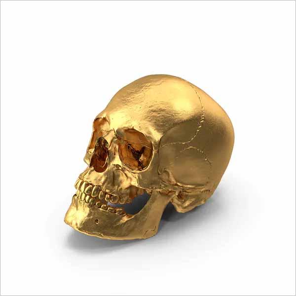 Gold 3DSkull Design