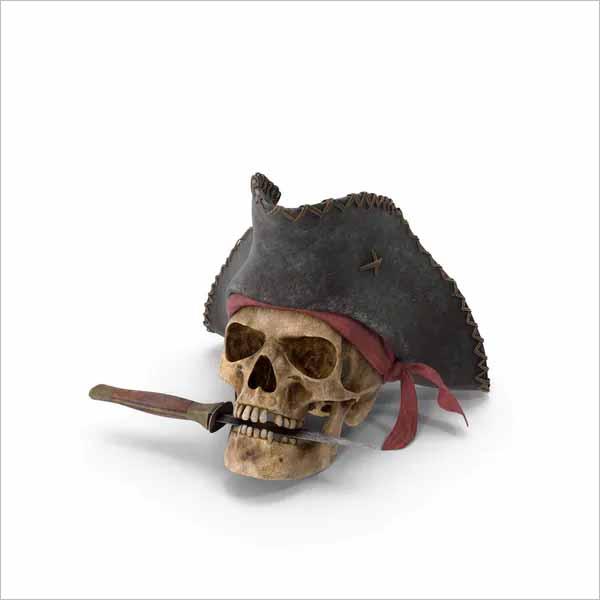 Halloween Skull 3D Design