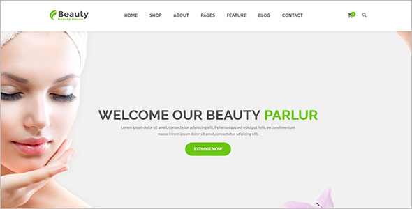 Health & Beauty Website Template