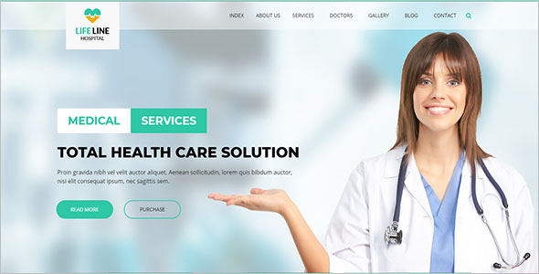 Hospital & Health Website Template