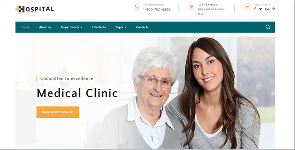 Hospital Medical Service Website Template