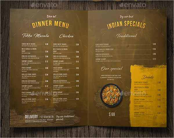 Indian Food Menu Design