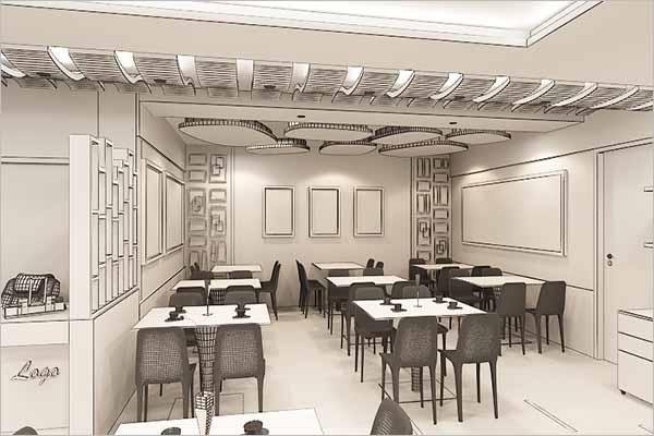 Interior Restaurant 3D Design