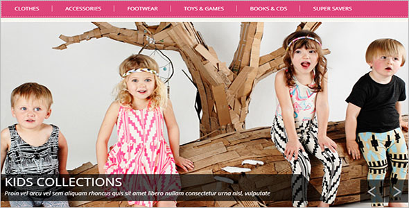 Kids Wear E-commerce Theme