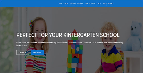 Kindergarten & School Website Template