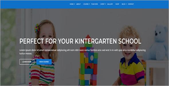 Kindergarten & School Website Template