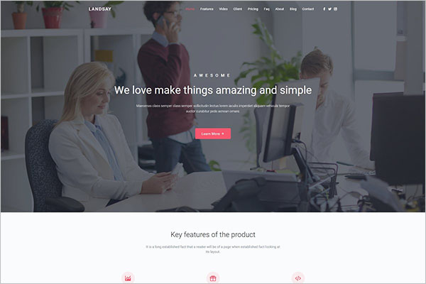 Landing Page Drupal Template