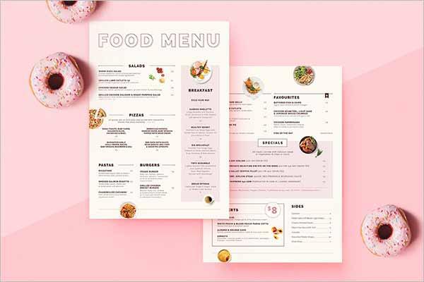 Latest Bakery Menu Templates Ideas