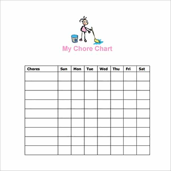Latest Chore Chart Templates