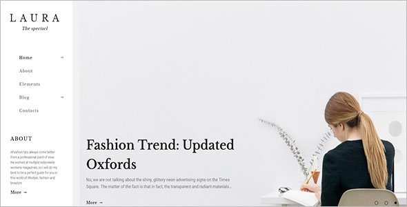 Laura Women Fashion WordPress Theme