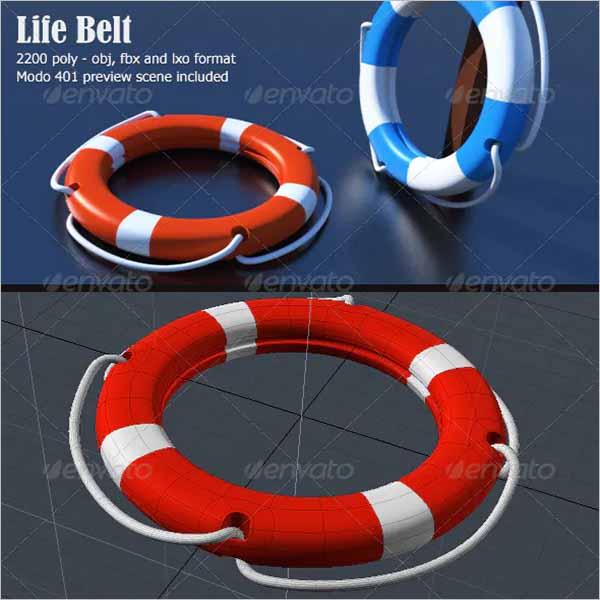 Lifebelt 3D Object