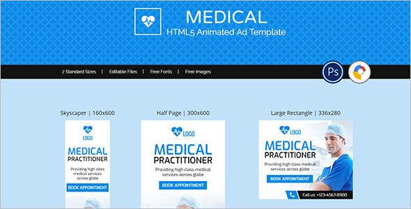 Medical Animated Website Template