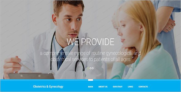 Medical Responsive Website Theme