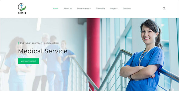 Medical Service HTML5 Website Template