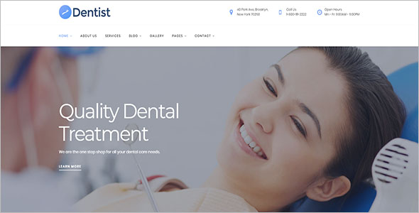 Medical Website Template PSD