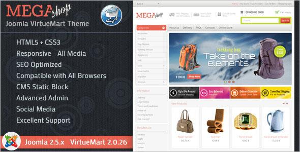 Mega Virtuemart Mobile Template