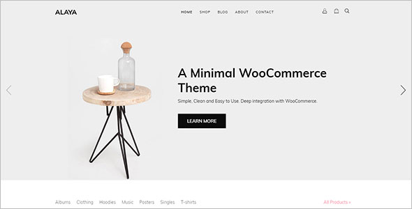 Minimalist Clean WooCommerce Theme