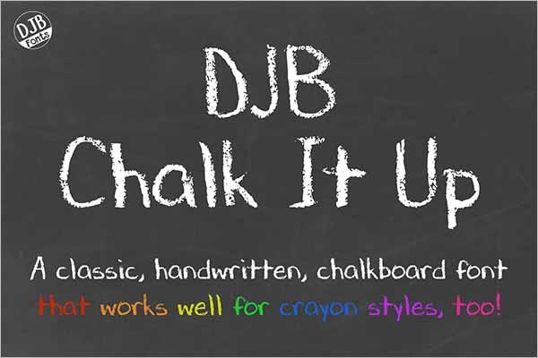 Modern Chalkboard Fonts