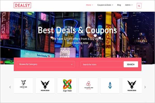 Modern Deals Website Template