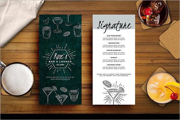 Modern Drink Menu Design Templates