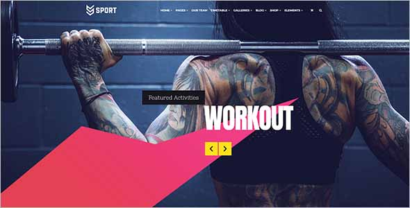 Modern Sports Landing Page Template