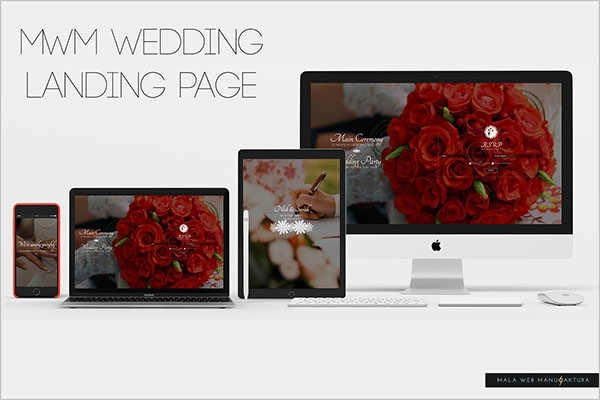 New Wedding Landing Page Templates