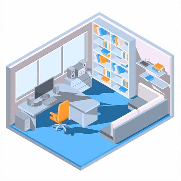 Office Object Image 3D