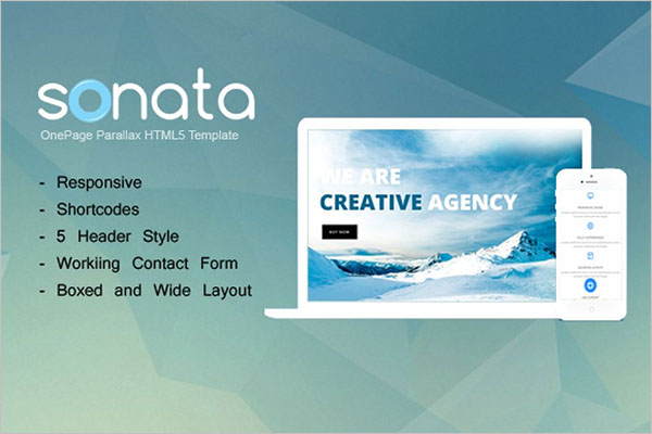 Onepage HTML Template