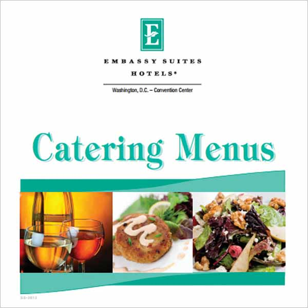 PDF Free Catering Menu Template