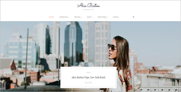 Personal Blog Elementor WordPress Theme