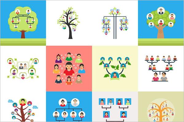 PowerPoint Family Tree Illustration