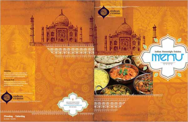 Printable Indian Restaurant Menu Template