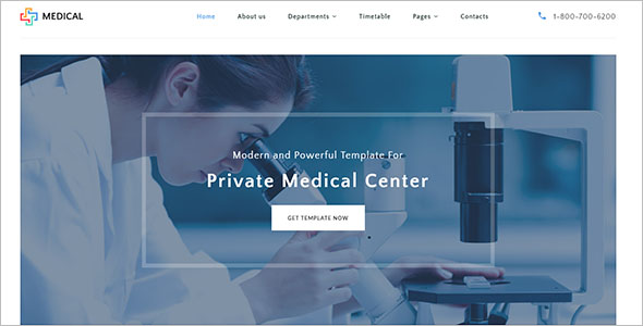 Private Medical Center Website Template