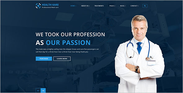 Professional Medi Care Website Template